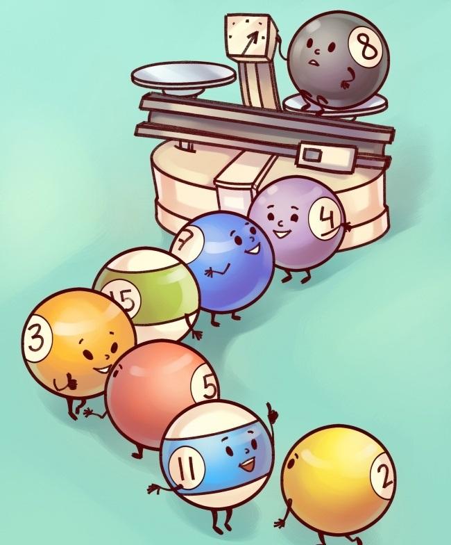 Взвешивание бильярдных шаров