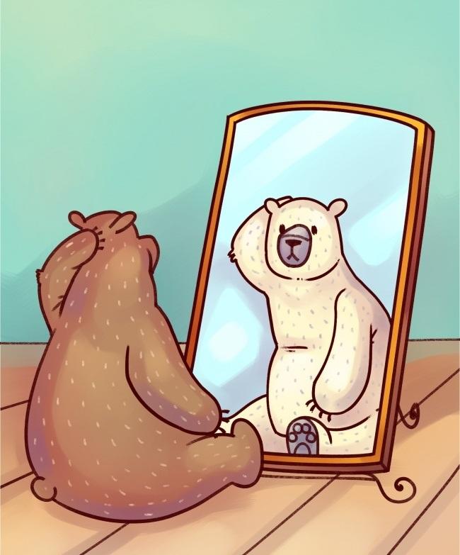 Медведь перед зеркалом