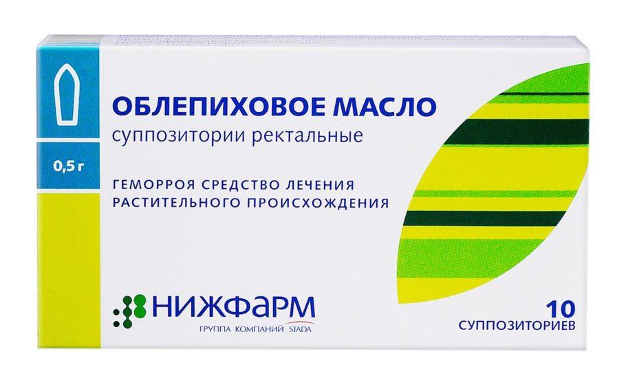 Упаковка свечей Облепиховое масло