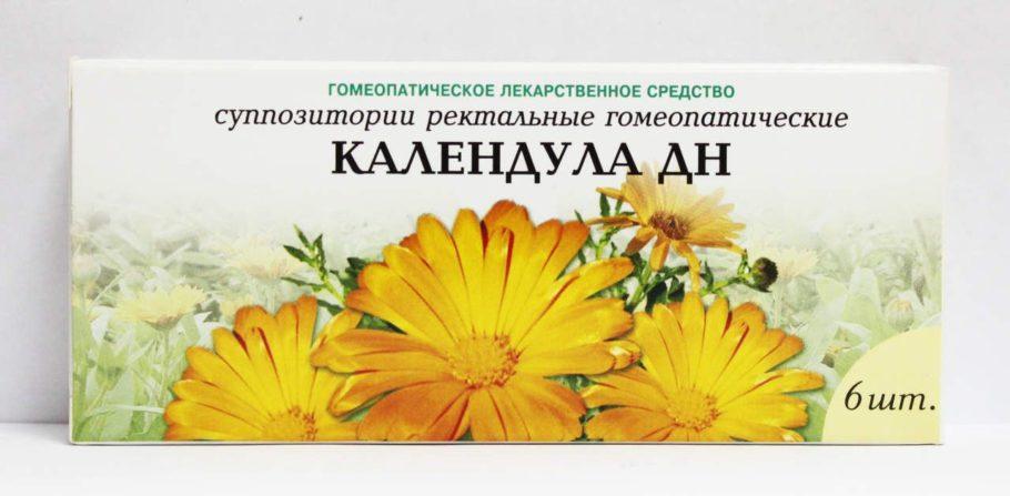 Упаковка гомеопатических свечей Календула