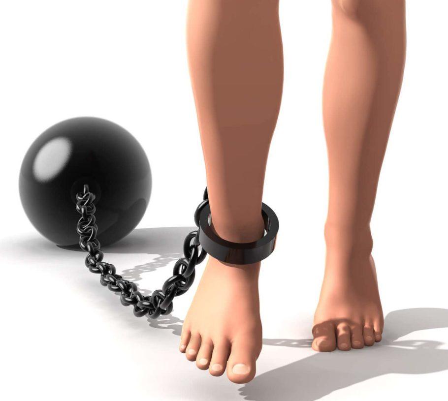 ноги с гирей