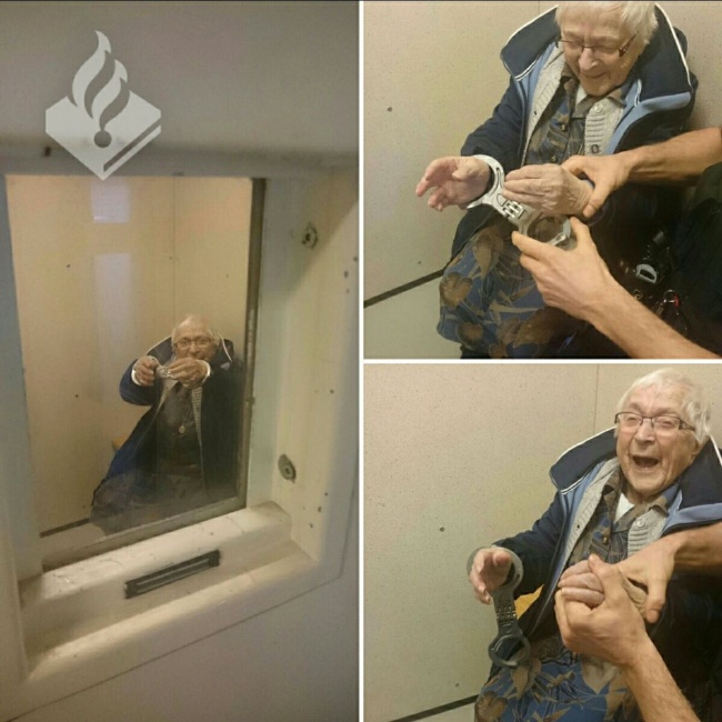 99-летняя бабушка арестована