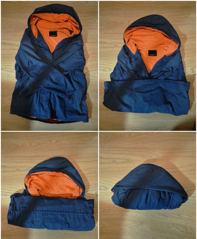 Куртка прячется в капюшон