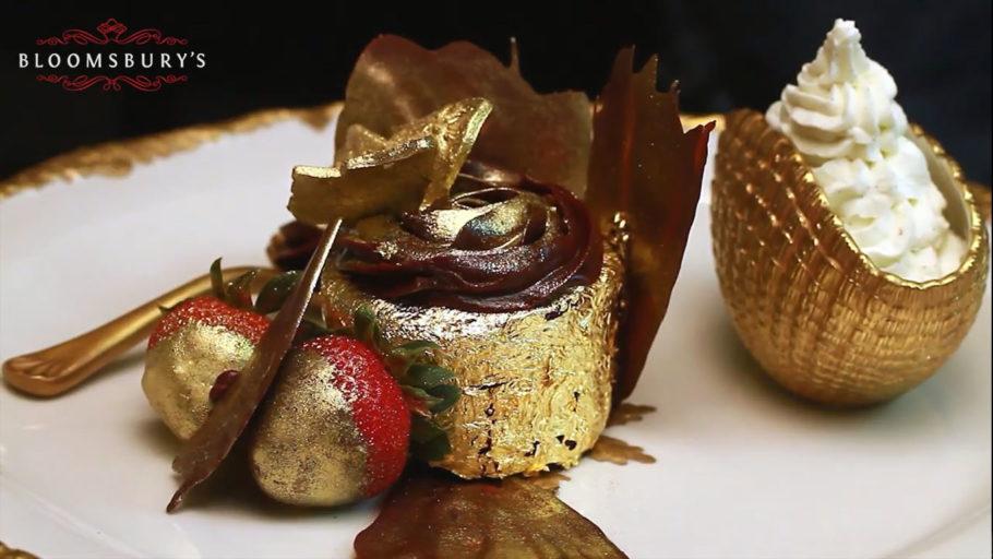 Десерт из золота