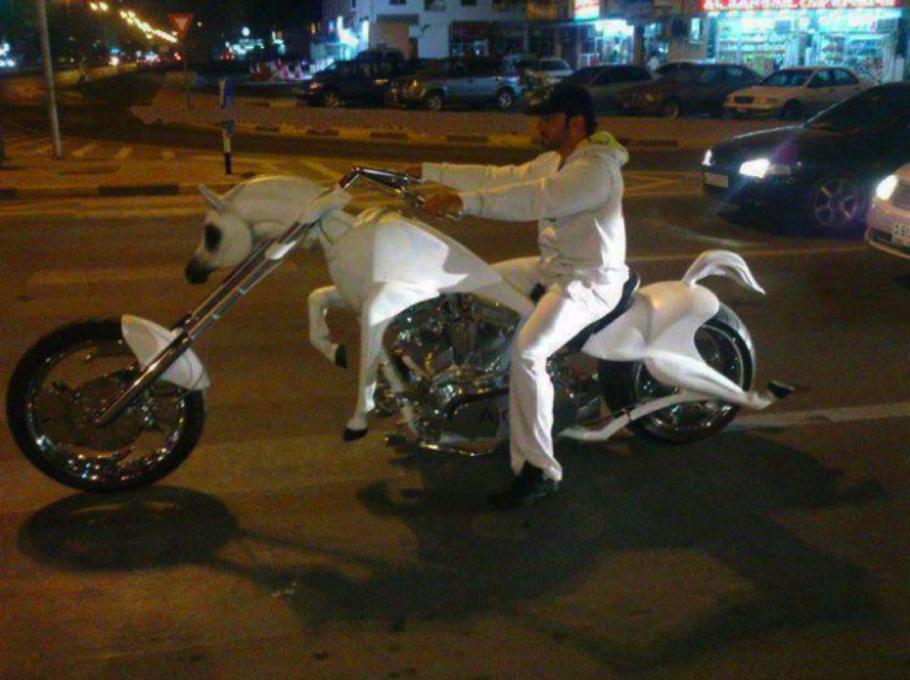 Мотоцикл в виде коня
