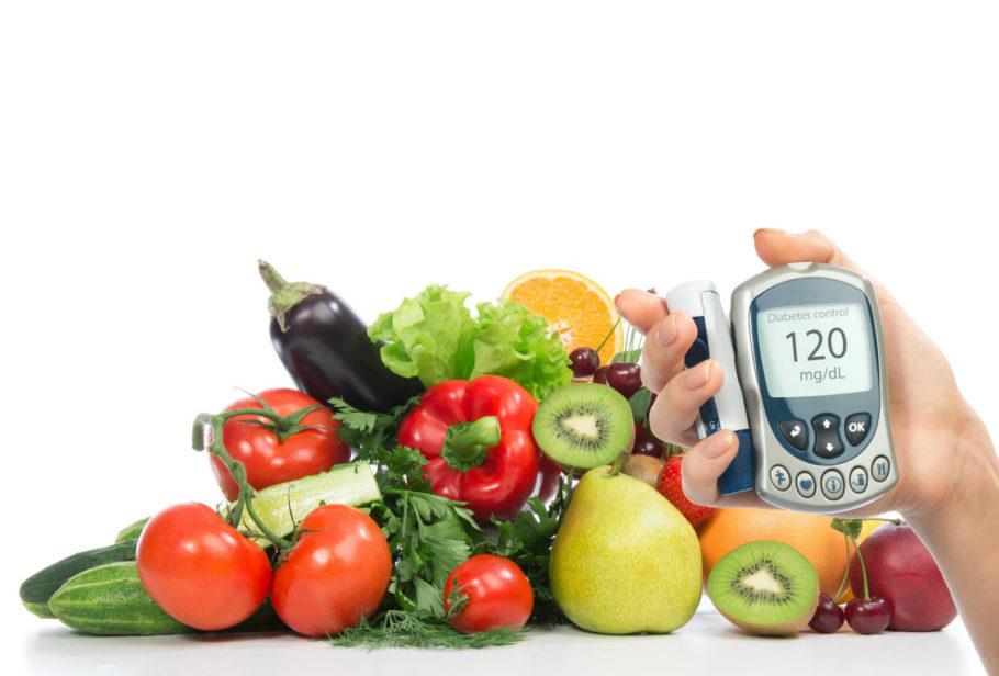 продукты питания и гликометр