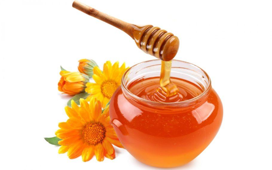 мед в стекляном горшке