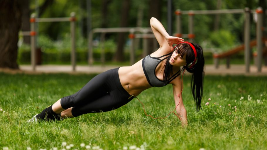 девушка на тренировке