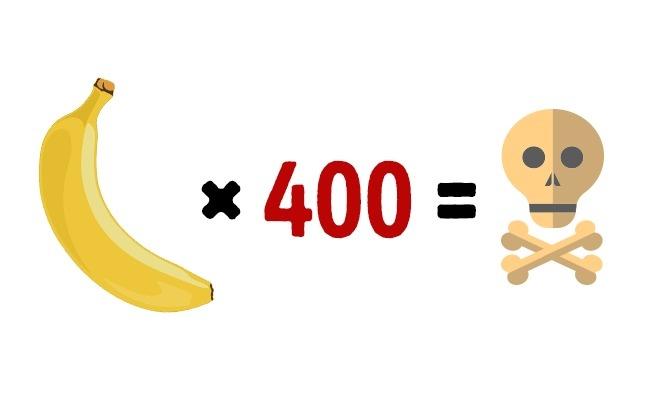 Съев 400 бананов можно умереть