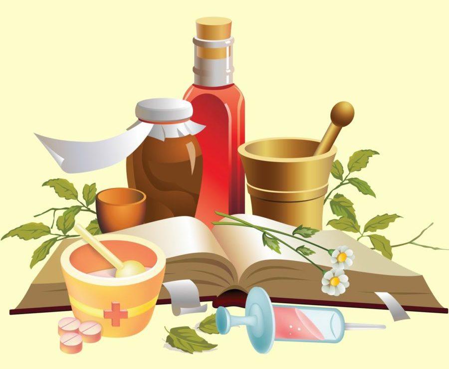 рисунок лечебные травы и препараты
