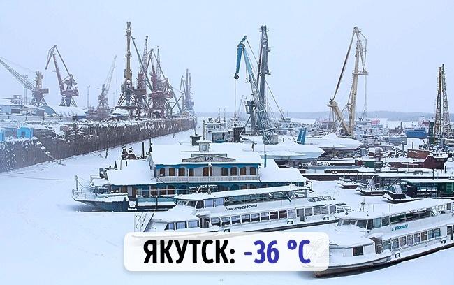 Российский Якутск: -36 градусов по Цельсию