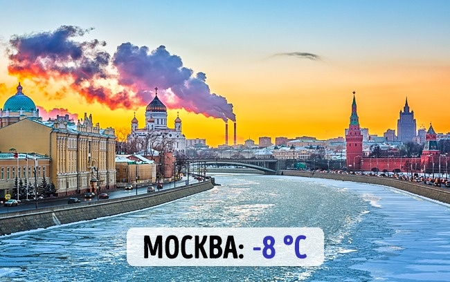 Российская Москва: -8 градусов по Цельсию