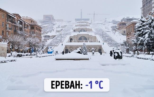 Армянский Ереван: -1 градус по Цельсию