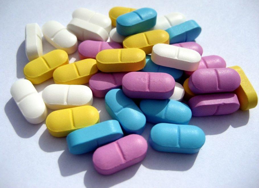 Разные таблетки в куче
