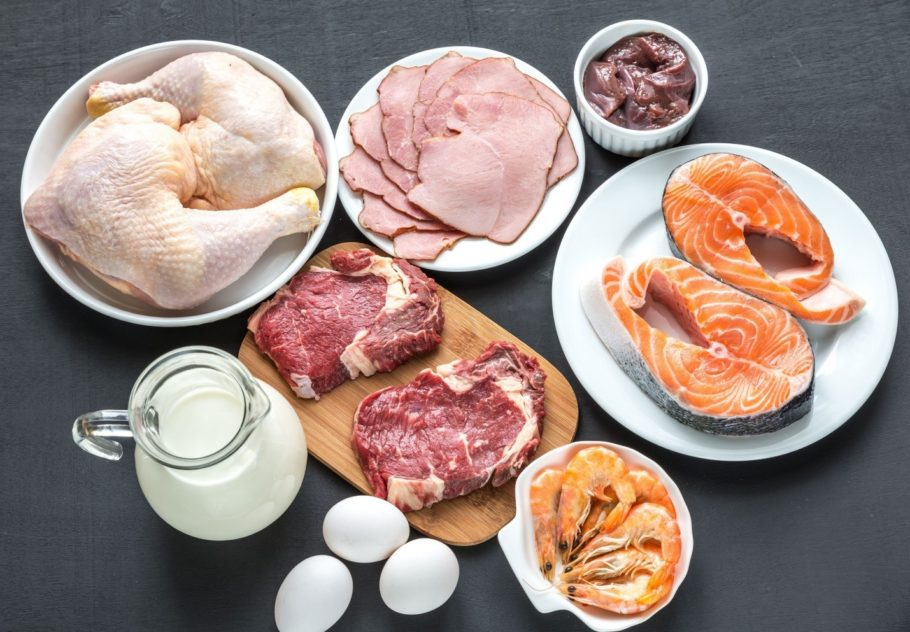 молоко, яйца, рыба и креветки