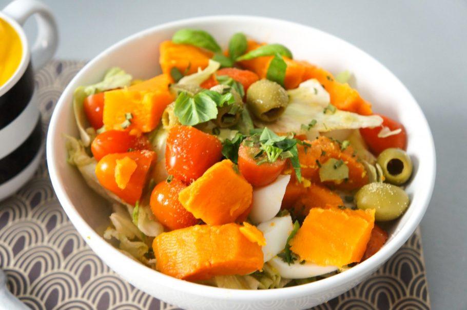 диетическая каша с тыквой и оливками