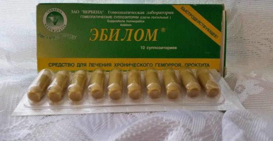 Гомеопатические свечи Эбилом