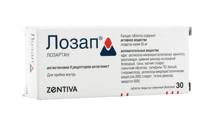 Упаковка препарата Лозап
