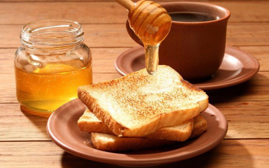 мёд на гренках