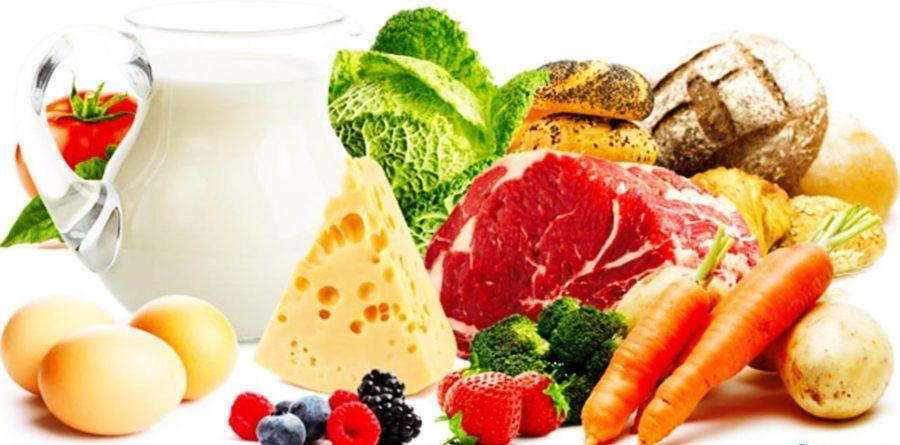 овощи, фрукты, молоко, яйца, сыр и другие продукты