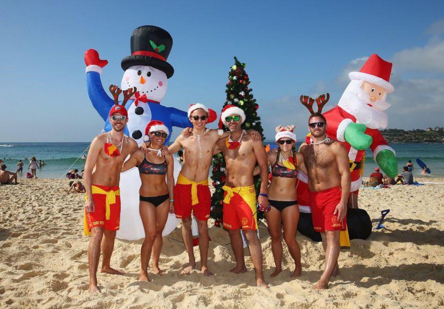 новый год на пляже