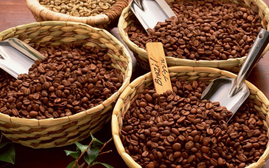 Кофе в корзинках