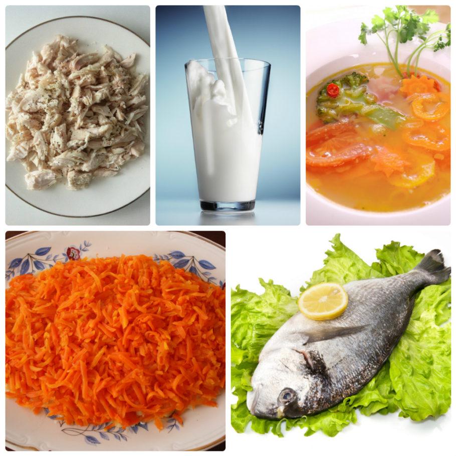 рыба, мясо, молоко и другие продукты