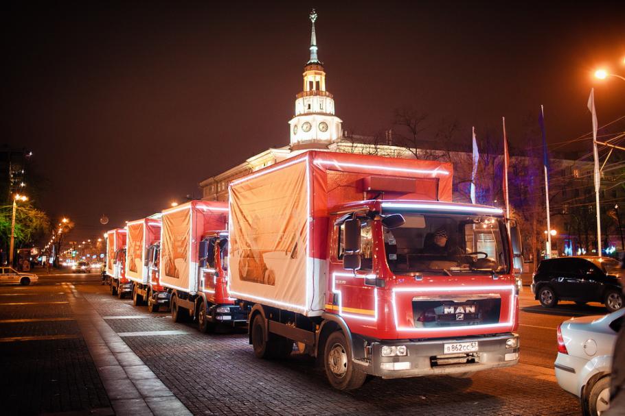 Рождественский караван Coca-Cola в России