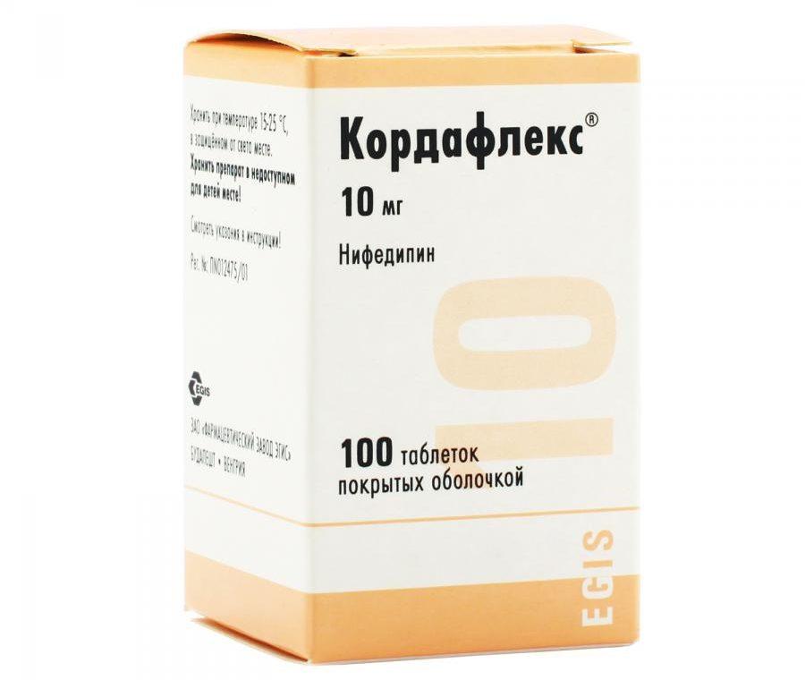 Упаковка таблеток Кордафлекс
