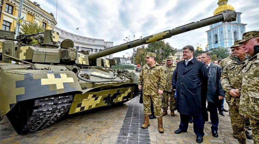 порошенко на военном смотре