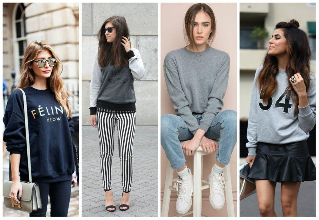 свитшоты модные для девушек