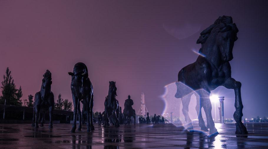 Город-призрак Канбаши в Китае