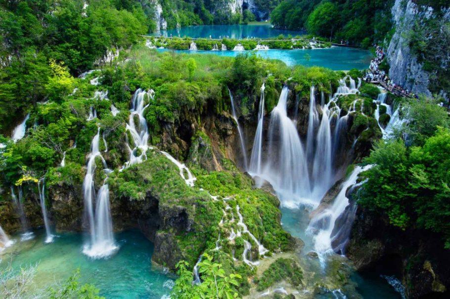 Водопады Плитвицких озер в Хорватии