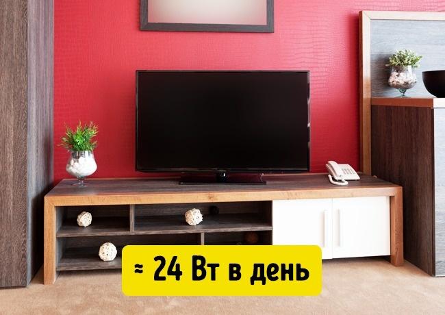 Телевизор на столике