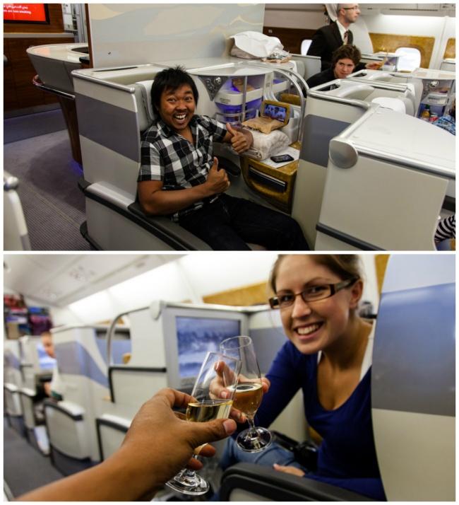 Парень и девушка попали в бизнес-класс в результате перебронирования билетов