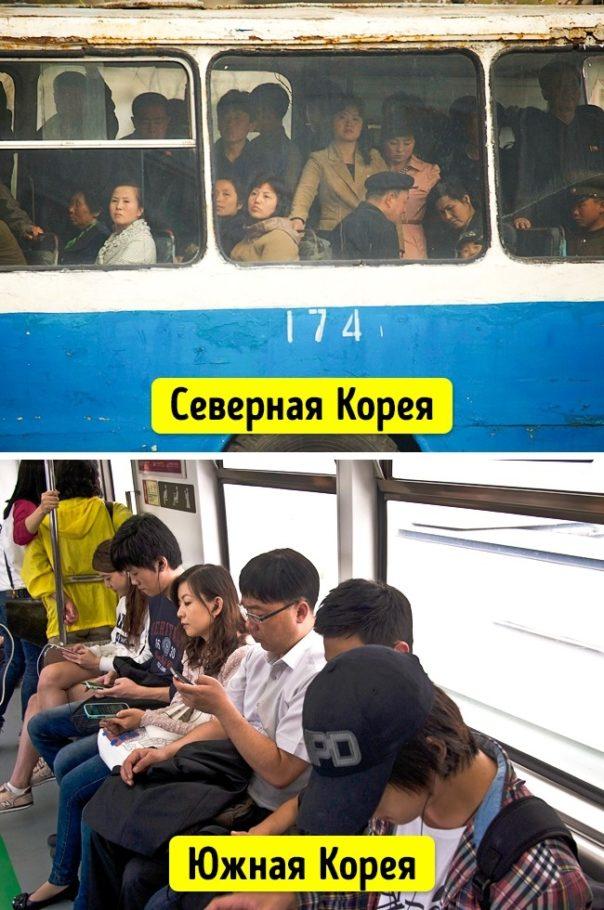 общественный транспорт в Северной и Южной Кореи