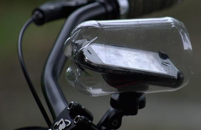 Телефонный чехол для езды на велосипеде из пластиковой бутылки