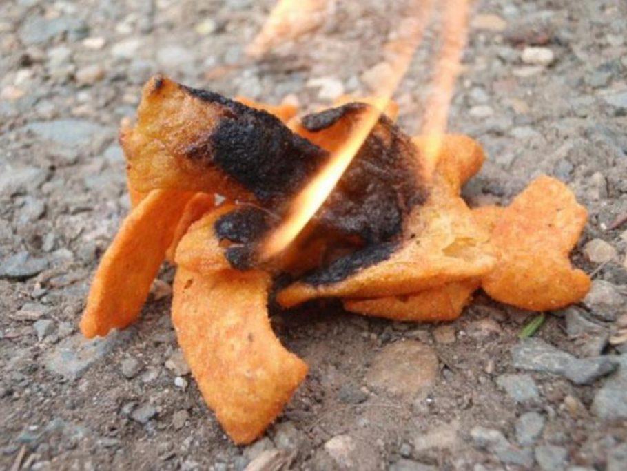 Чипсы отлично горят