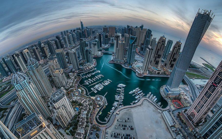 виды сверху Дубаи
