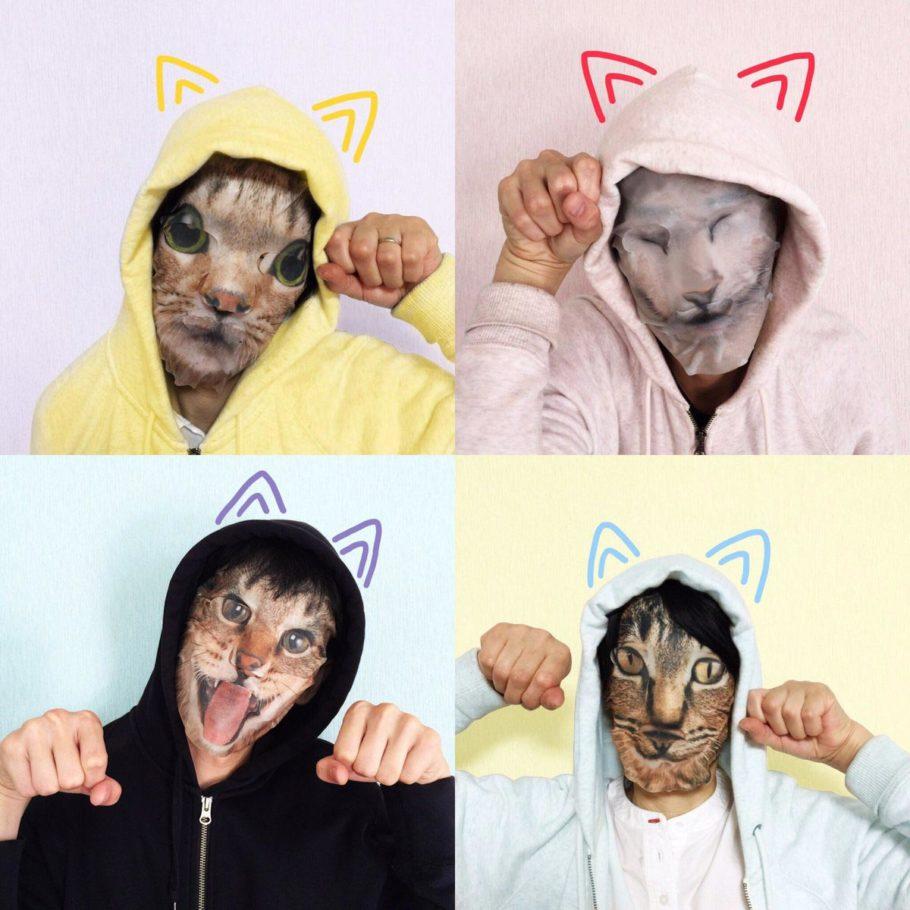 Кошачья маска для лица