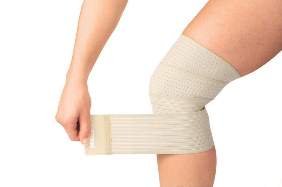 эластичная повязка на ноге