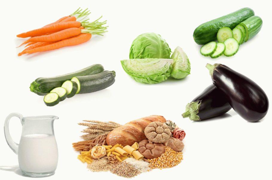 Из овощей разрешен картофель, баклажаны, огурцы, сладкий перец, помидоры, свекла, редька