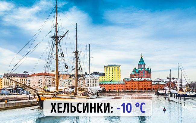 Финские Хельскинки: -10 градусов по Цельсию