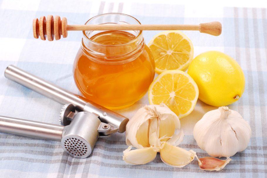 мёд и чеснок