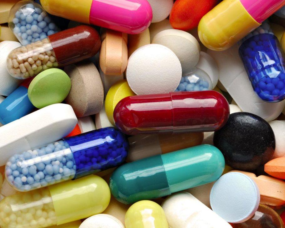 разные таблетки розсыпью