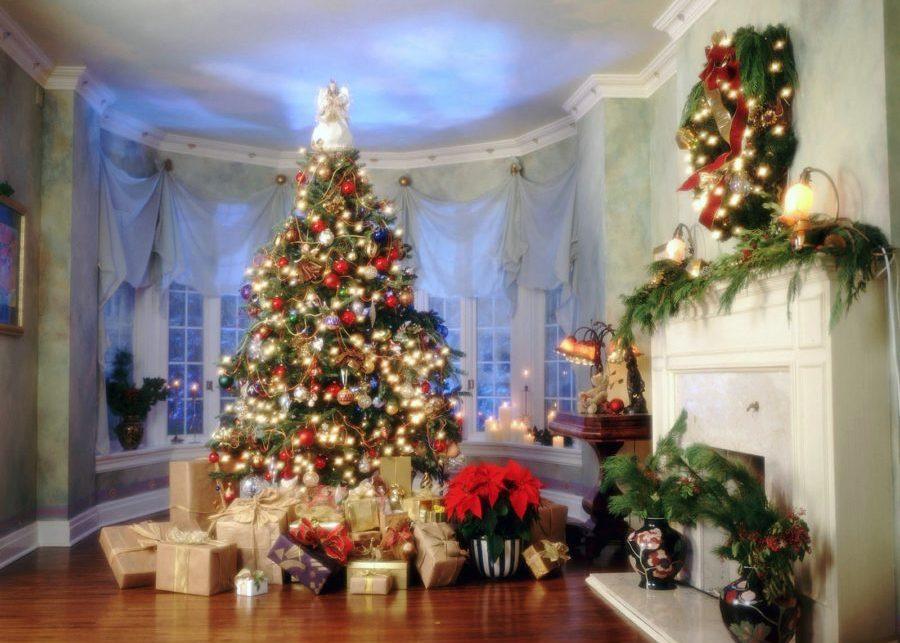 Украшенная комната к Новому году