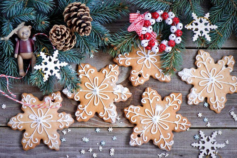 имбирные пряники-снежинки