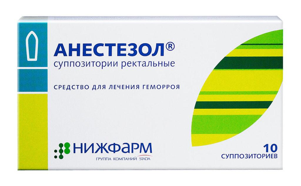 Упаковка супозиториев Анестезол
