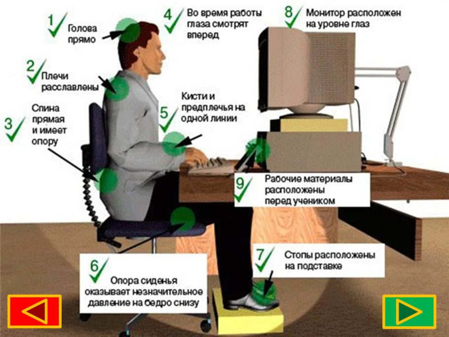 мужчина сидит перед компьютером