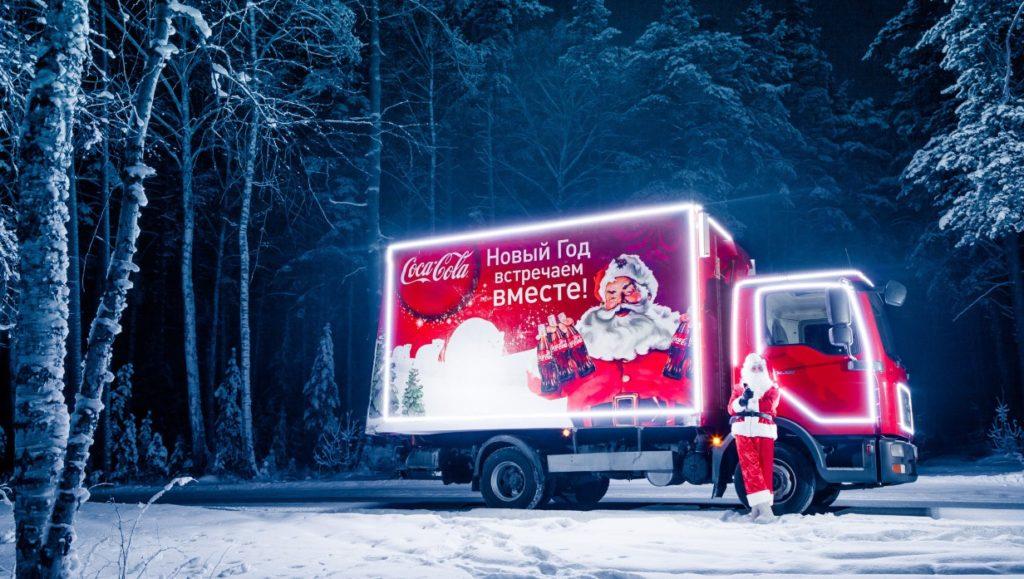 Рождественский грузовик Кока-Кола